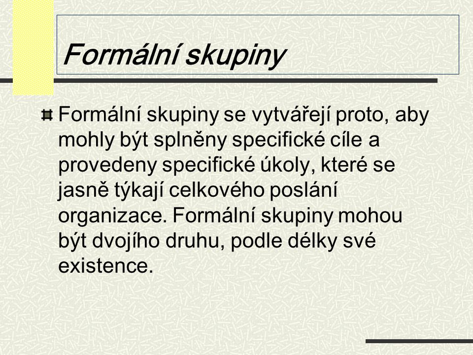 Formální skupiny