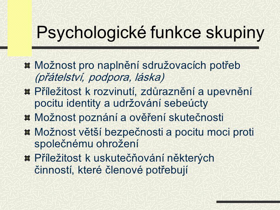 Psychologické funkce skupiny