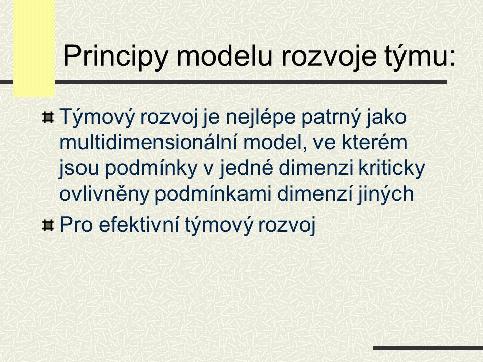 Principy modelu rozvoje týmu: