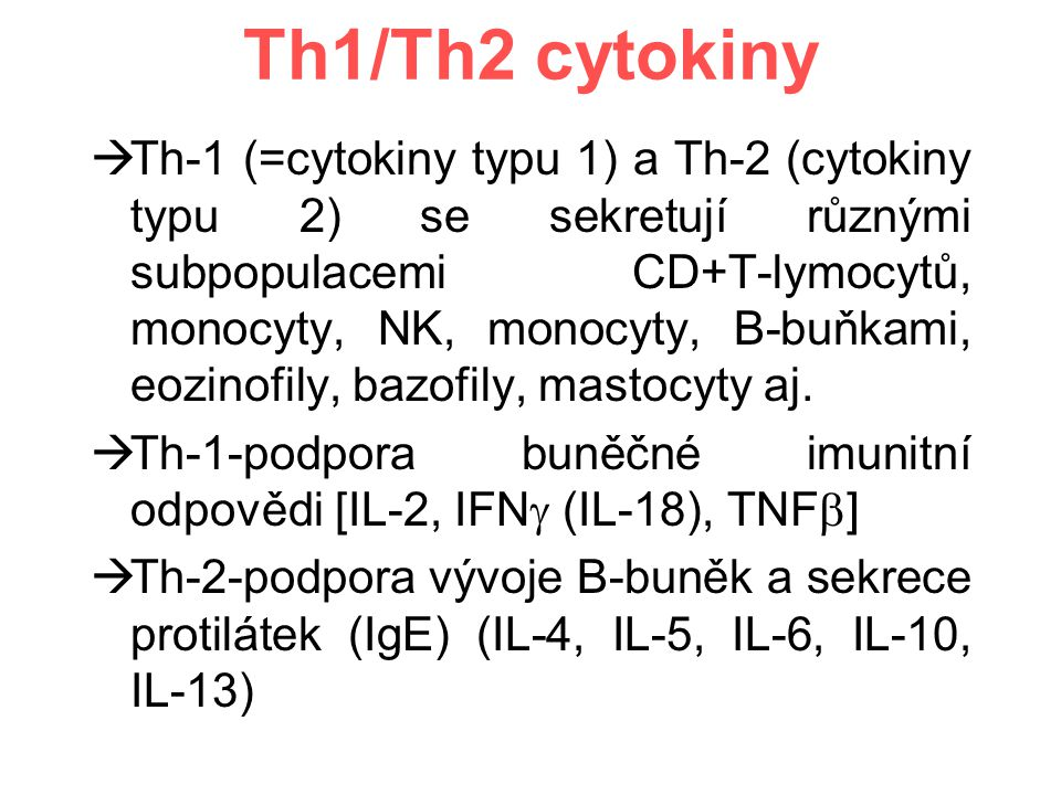Th1/Th2 cytokiny