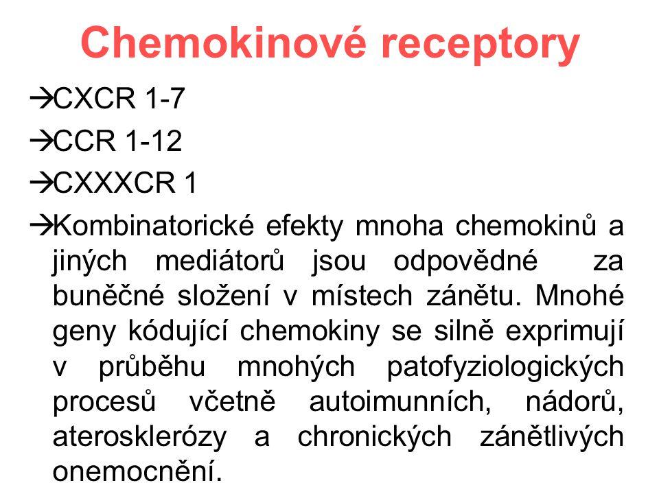 Chemokinové receptory