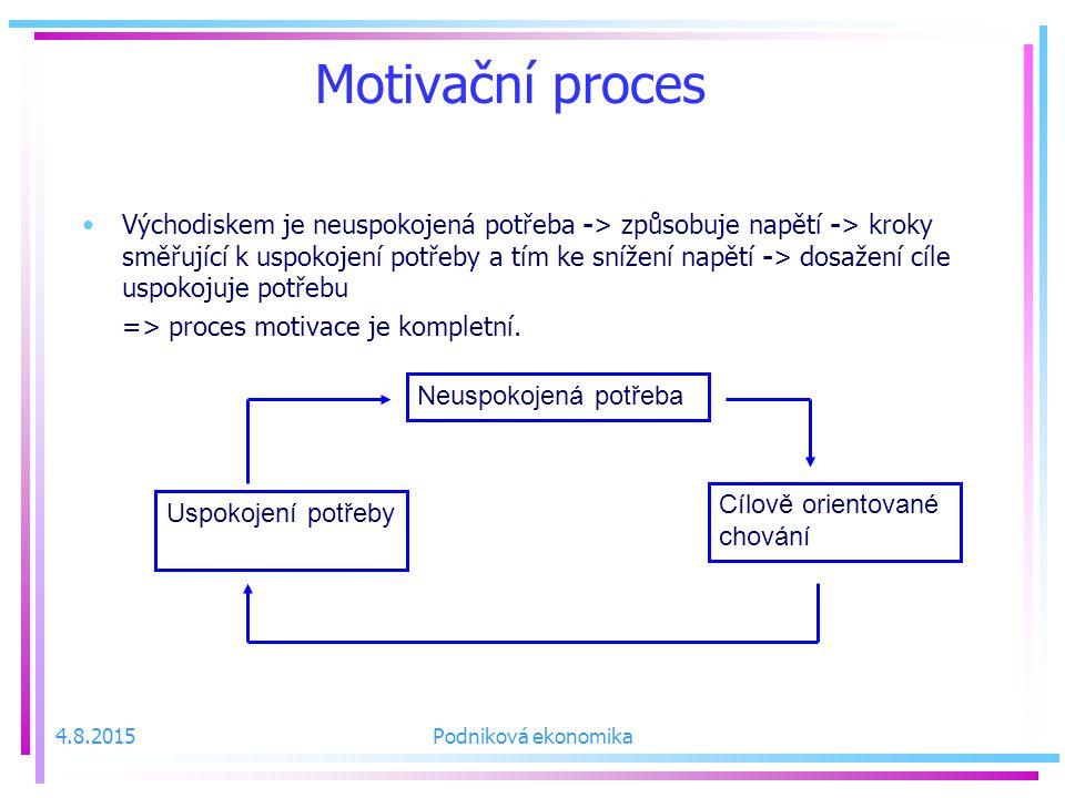 Motivační proces