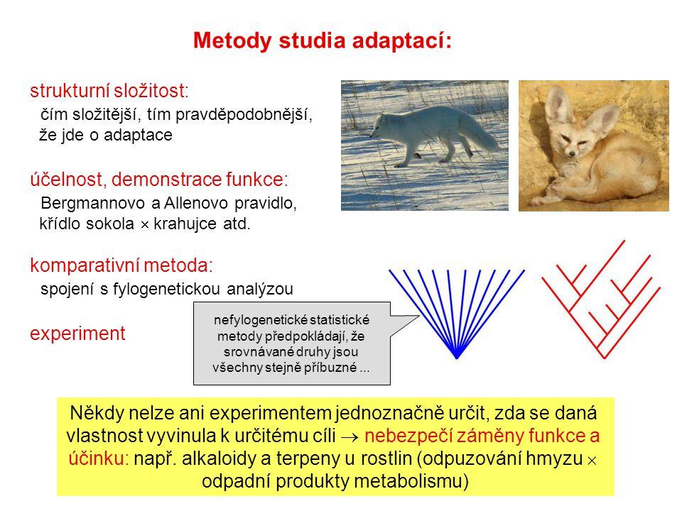 Metody studia adaptací: