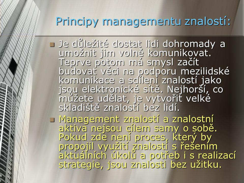Principy managementu znalostí: