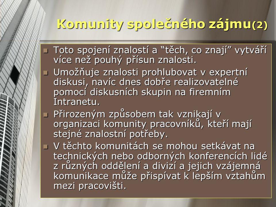 Komunity společného zájmu(2)