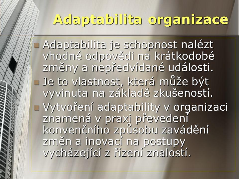 Adaptabilita organizace