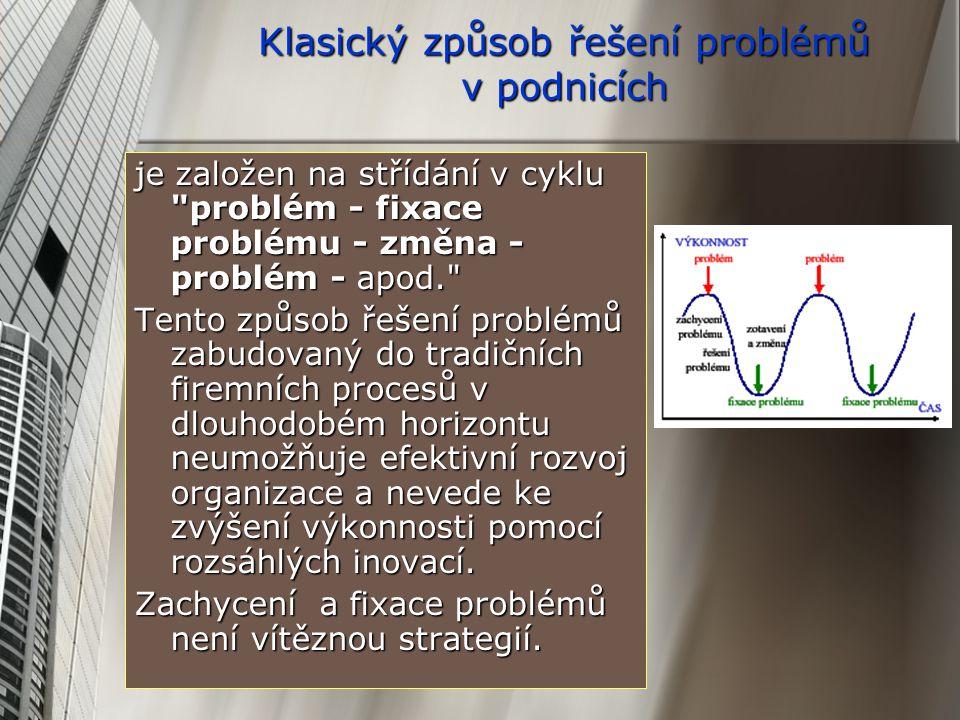 Klasický způsob řešení problémů v podnicích