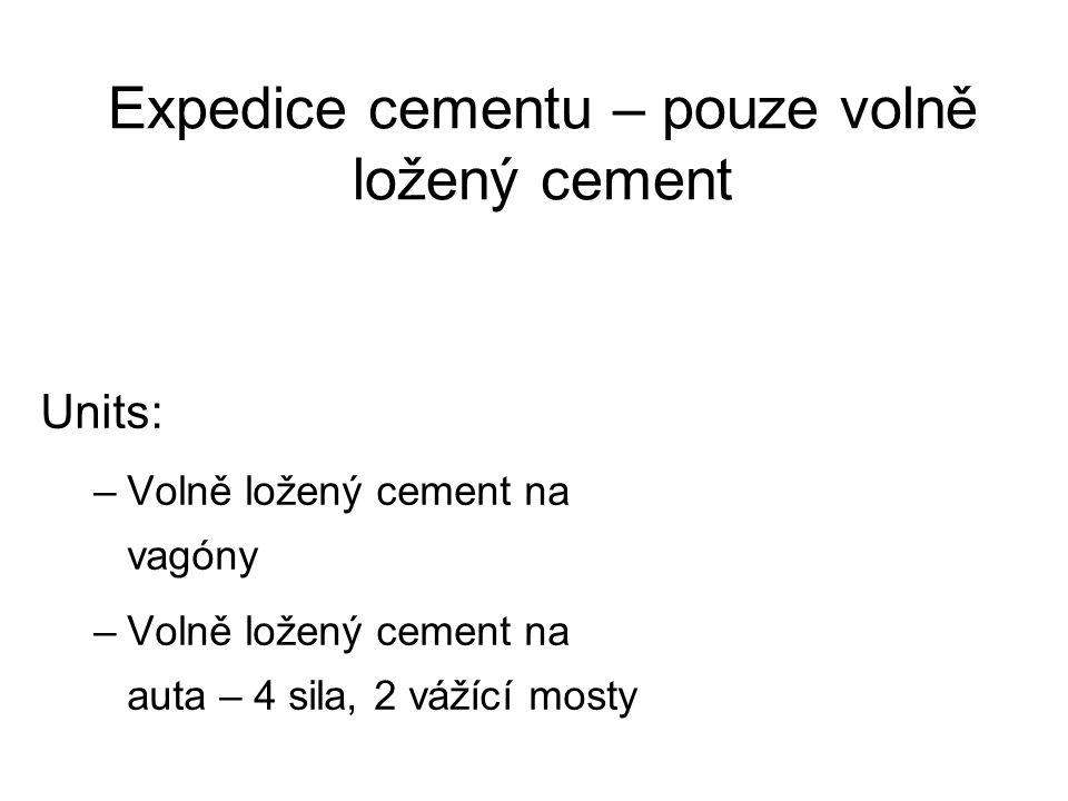Expedice cementu – pouze volně ložený cement