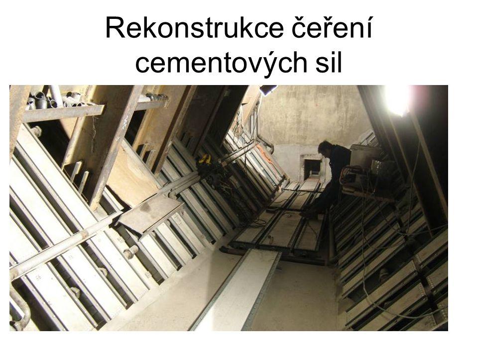 Rekonstrukce čeření cementových sil