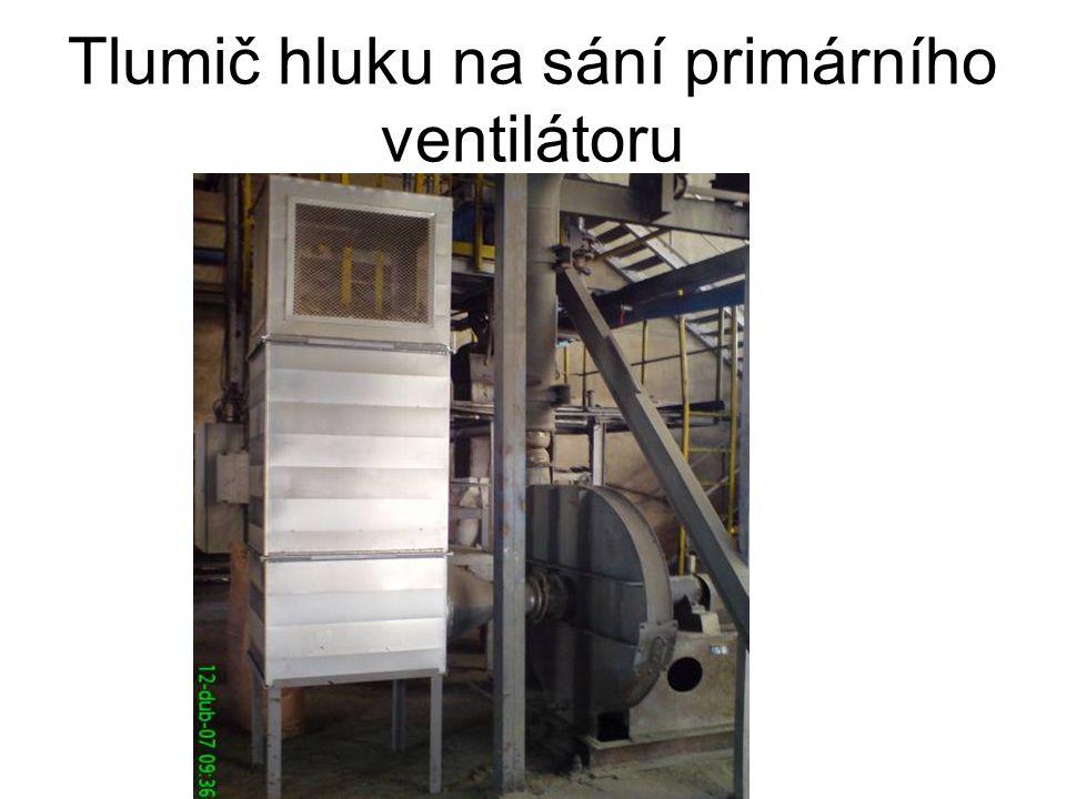 Tlumič hluku na sání primárního ventilátoru