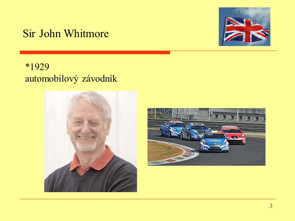 Sir John Whitmore *1929 automobilový závodník