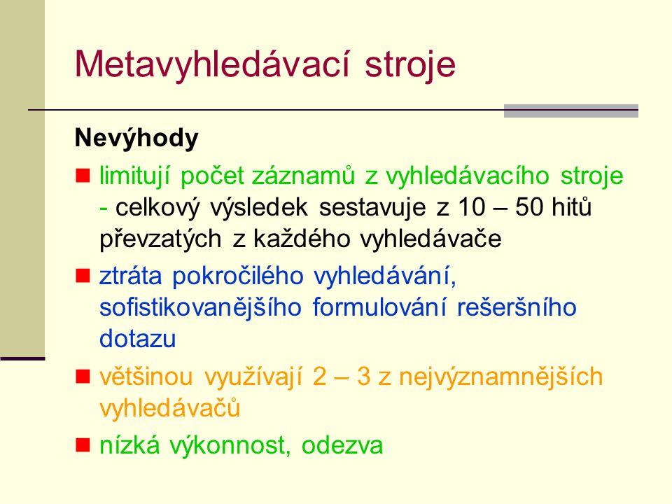 Metavyhledávací stroje