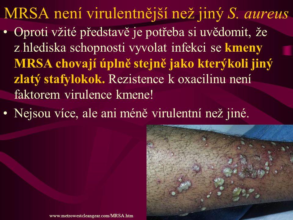 MRSA není virulentnější než jiný S. aureus
