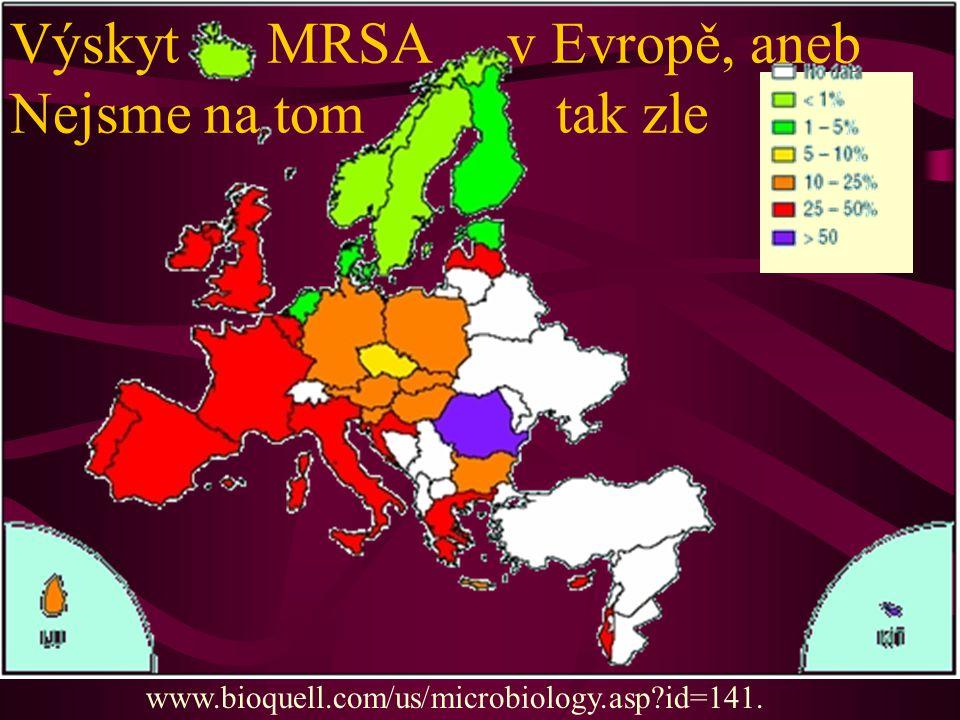 Výskyt MRSA v Evropě, aneb Nejsme na tom tak zle