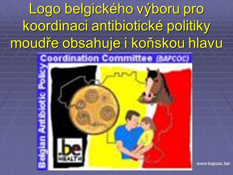 Logo belgického výboru pro koordinaci antibiotické politiky moudře obsahuje i koňskou hlavu