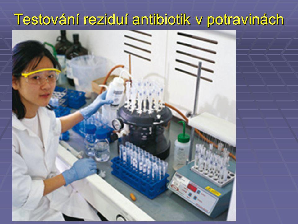 Testování reziduí antibiotik v potravinách