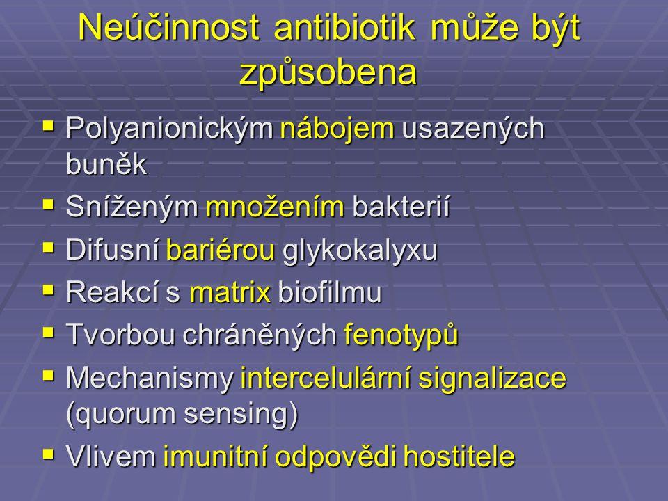 Neúčinnost antibiotik může být způsobena
