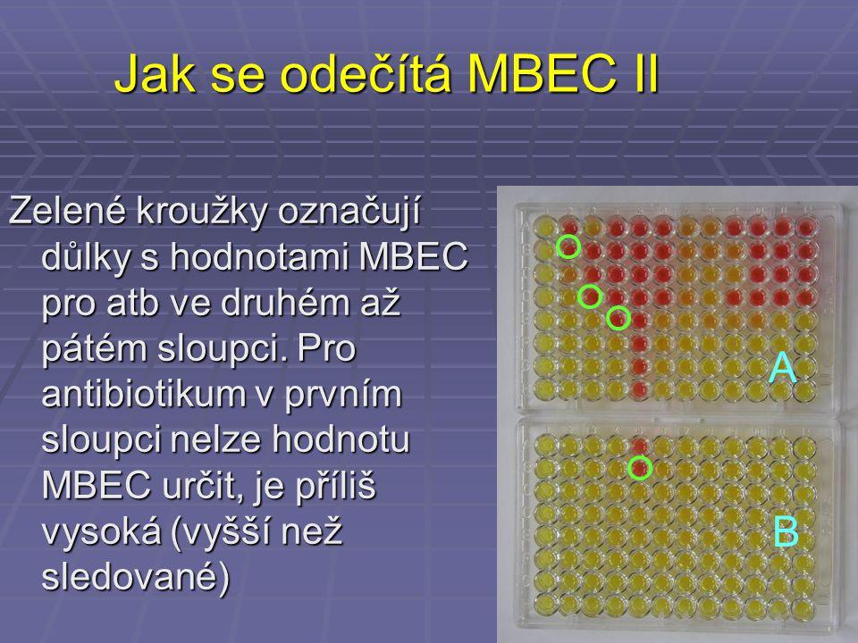 Jak se odečítá MBEC II A B