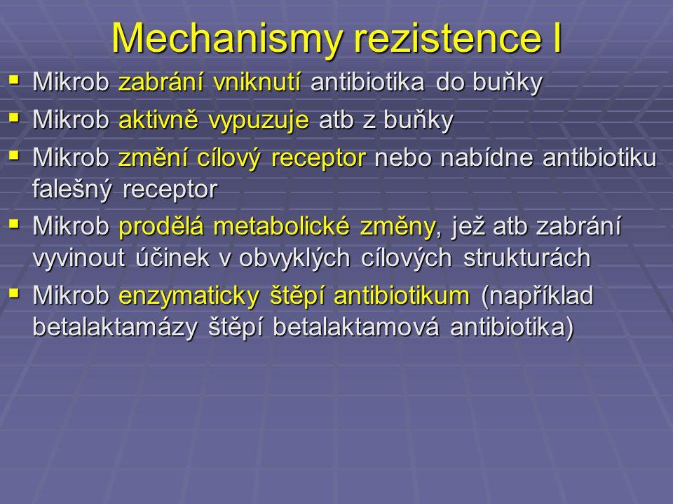 Mechanismy rezistence I