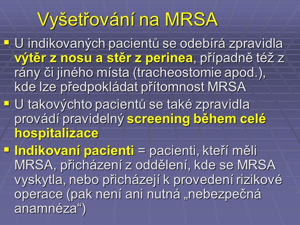 Vyšetřování na MRSA