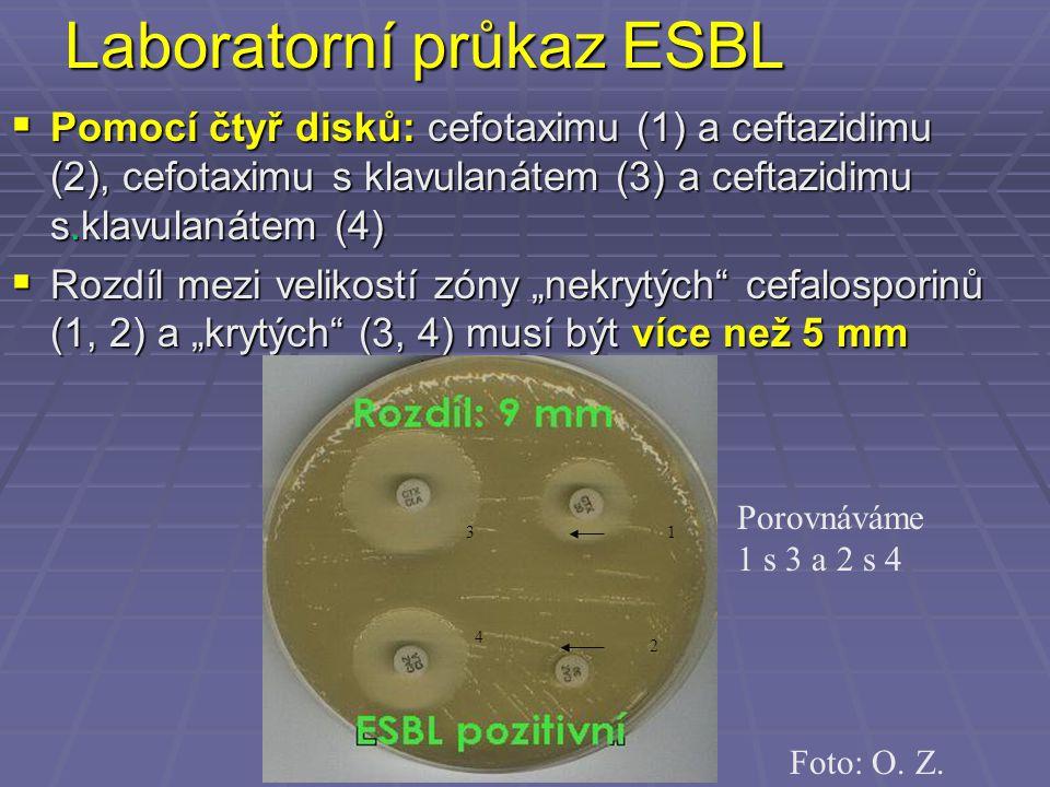 Laboratorní průkaz ESBL
