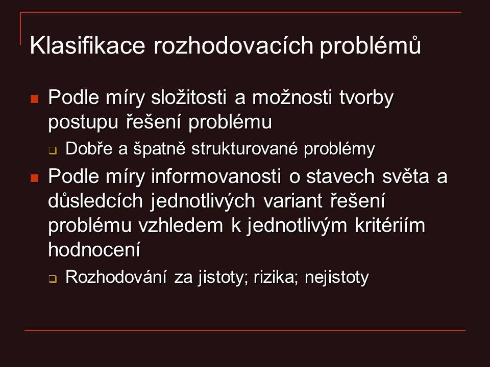 Klasifikace rozhodovacích problémů
