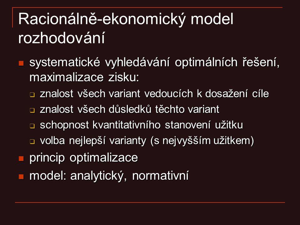 Racionálně-ekonomický model rozhodování