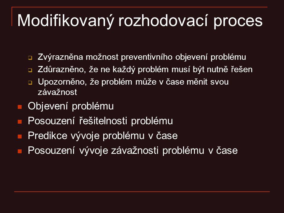 Modifikovaný rozhodovací proces