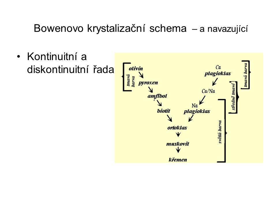 Bowenovo krystalizační schema – a navazující