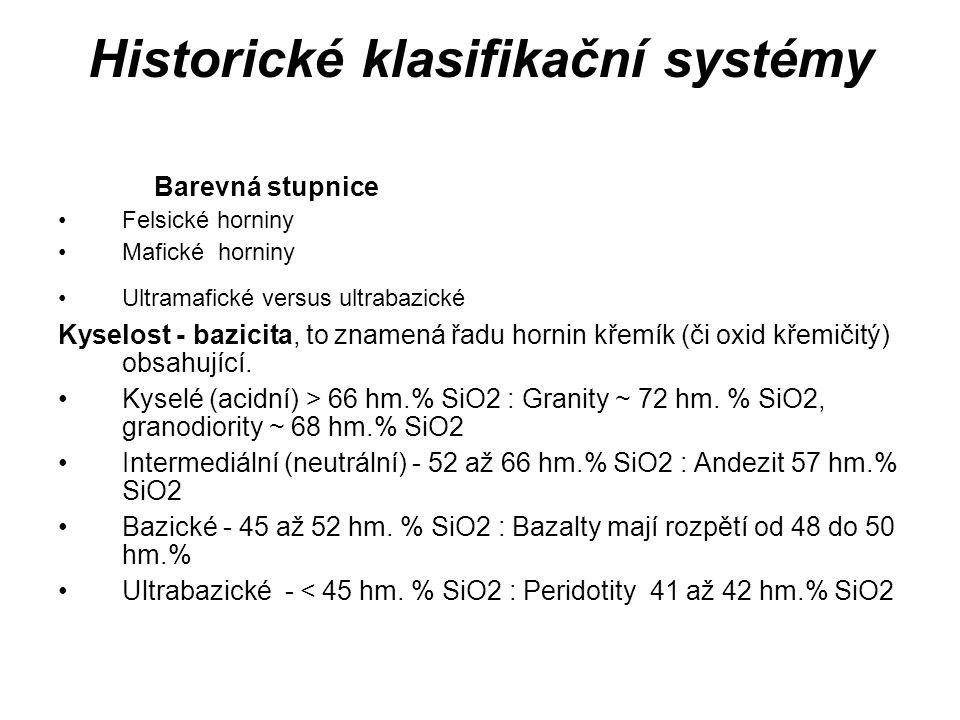 Historické klasifikační systémy