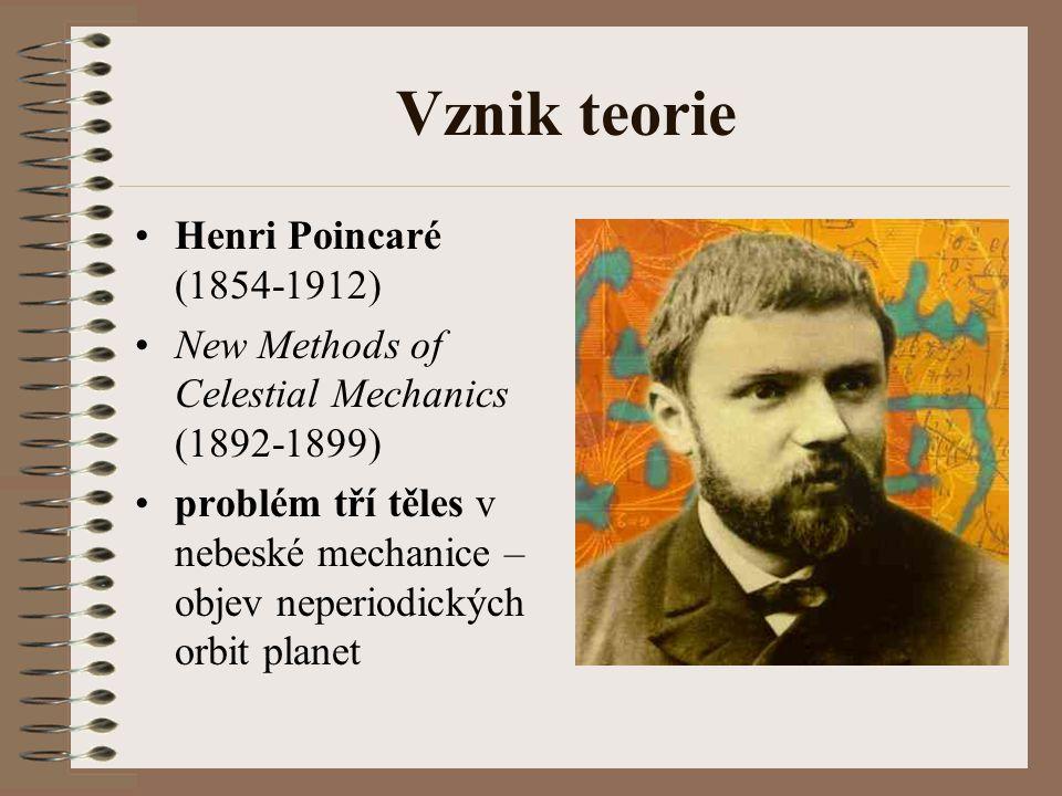 Vznik teorie Henri Poincaré (1854-1912)