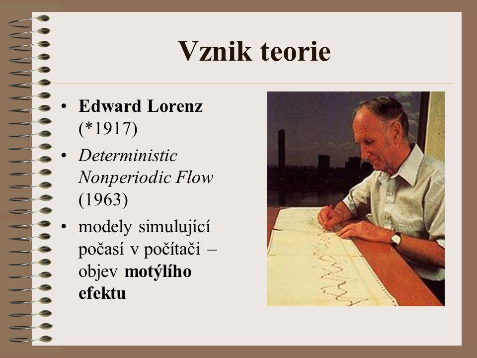 Vznik teorie Edward Lorenz (*1917)