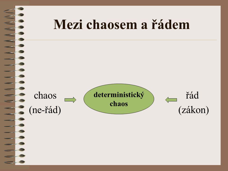 Mezi chaosem a řádem chaos deterministický řád (ne-řád) chaos (zákon)