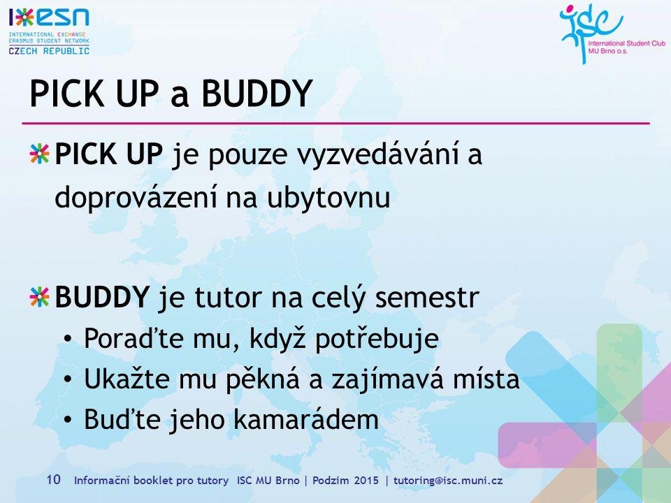 PICK UP a BUDDY PICK UP je pouze vyzvedávání a doprovázení na ubytovnu
