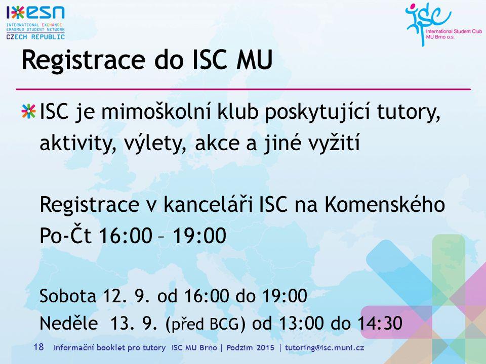 Registrace do ISC MU
