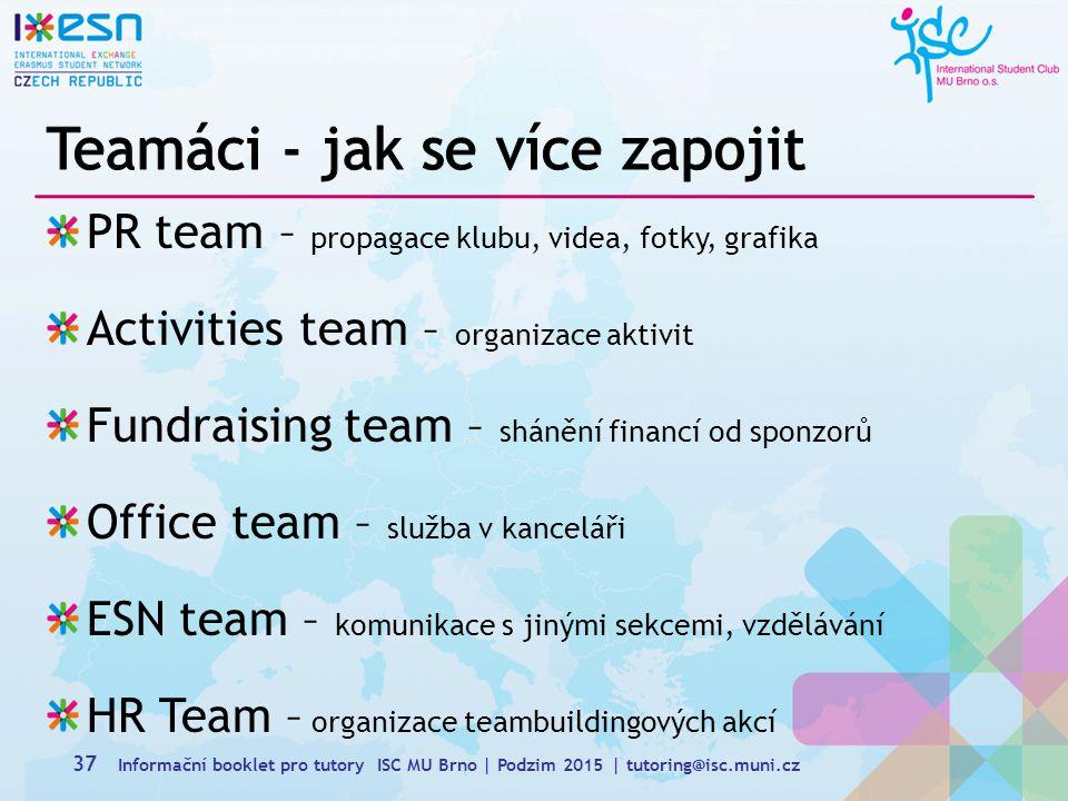 Teamáci - jak se více zapojit