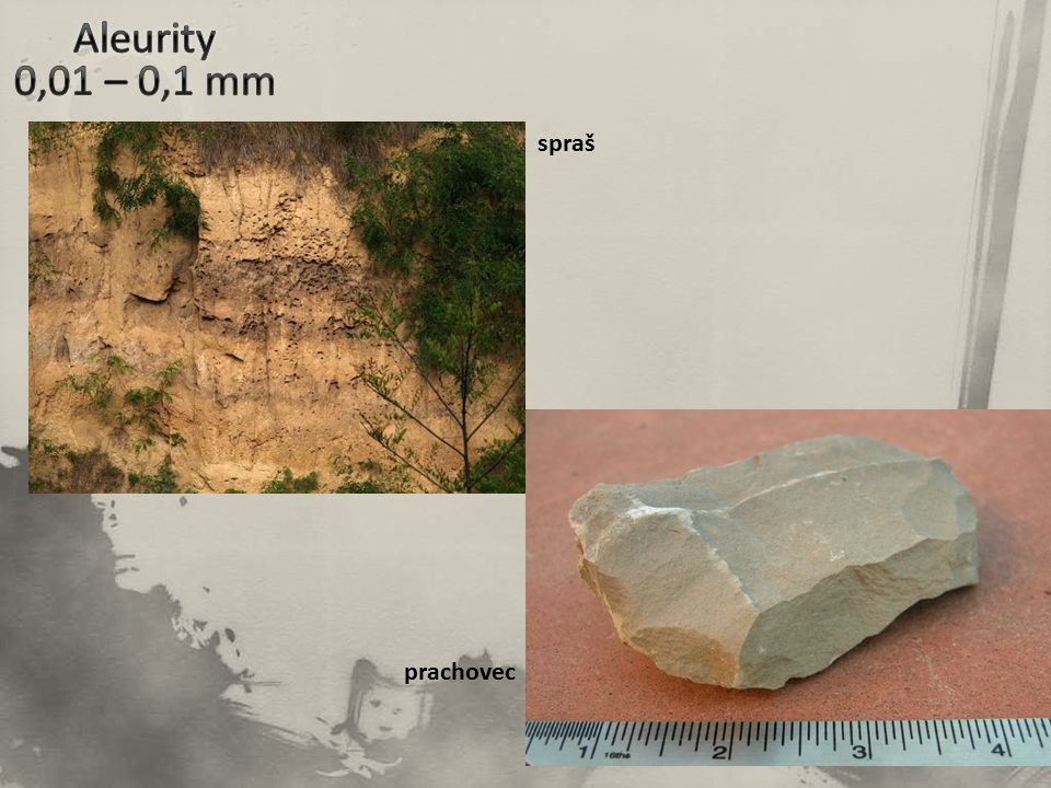 Aleurity 0,01 – 0,1 mm spraš prachovec