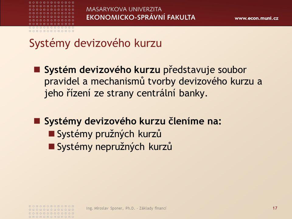 Systémy devizového kurzu