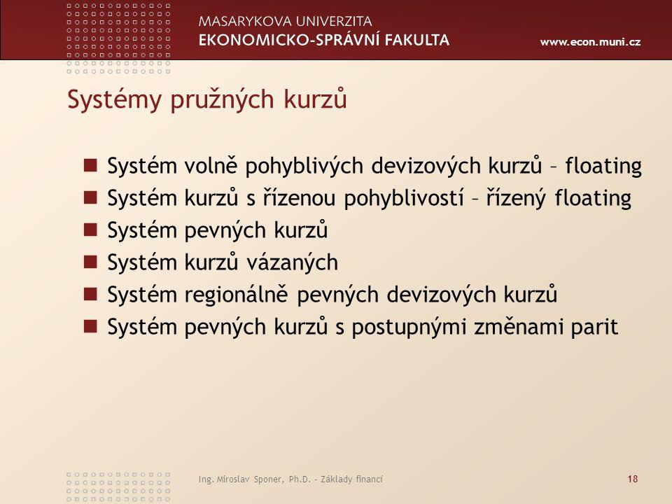 Systémy pružných kurzů