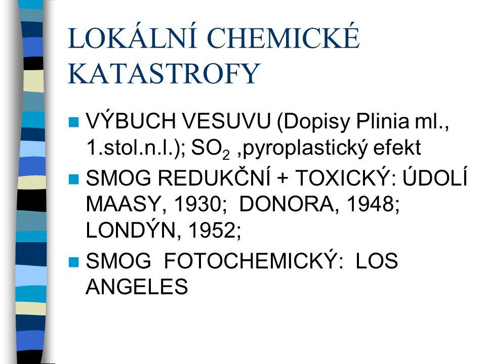 LOKÁLNÍ CHEMICKÉ KATASTROFY