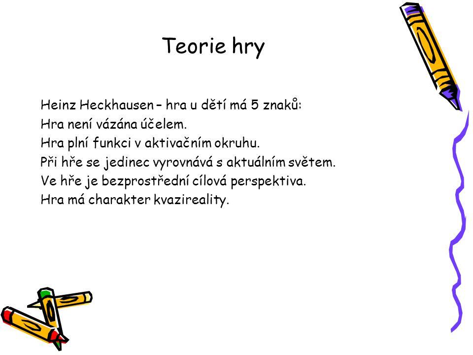 Teorie hry Heinz Heckhausen – hra u dětí má 5 znaků: