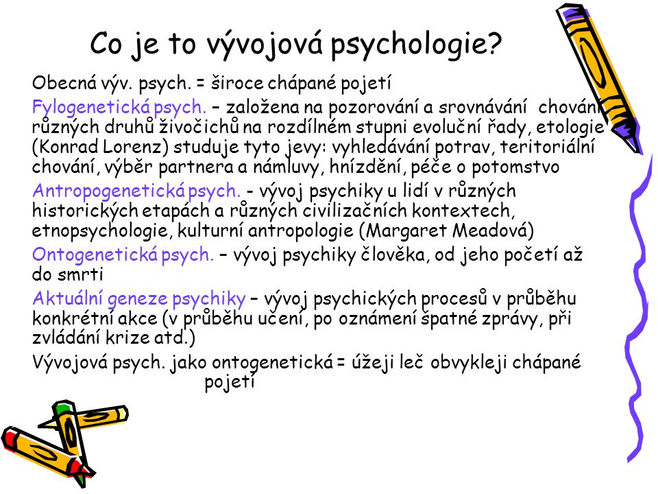 Co je to vývojová psychologie