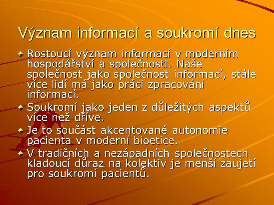 Význam informací a soukromí dnes