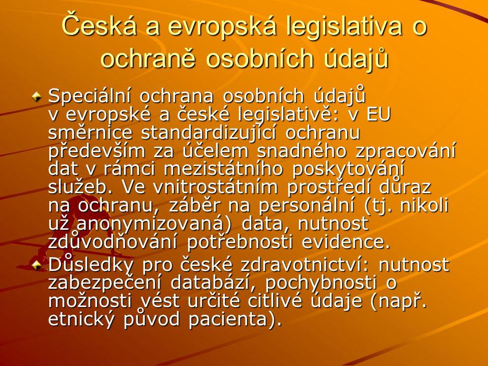 Česká a evropská legislativa o ochraně osobních údajů