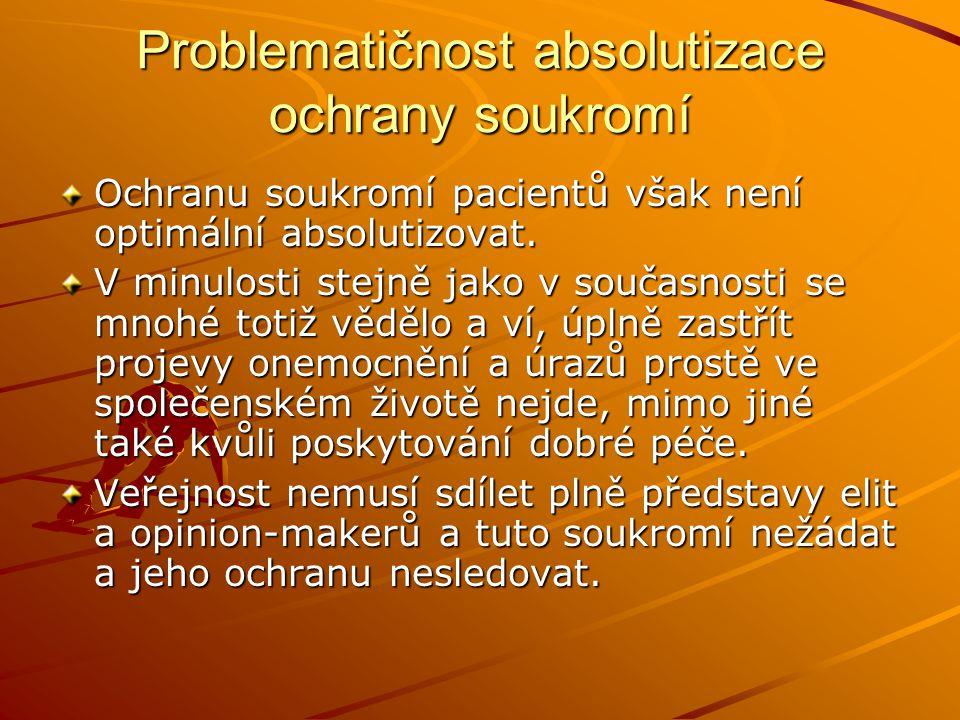 Problematičnost absolutizace ochrany soukromí
