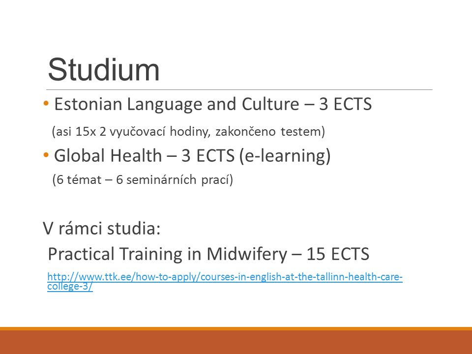 Studium Estonian Language and Culture – 3 ECTS