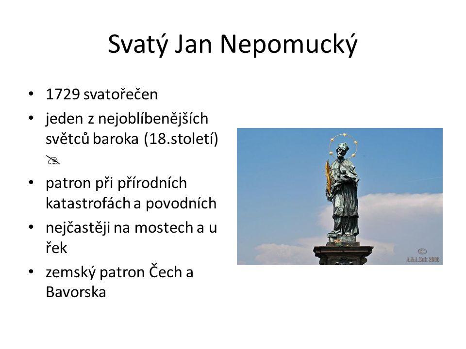 Svatý Jan Nepomucký 1729 svatořečen