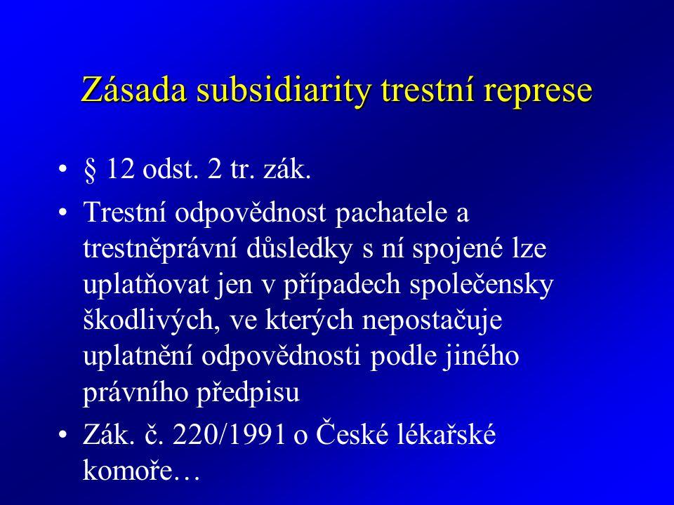 Zásada subsidiarity trestní represe
