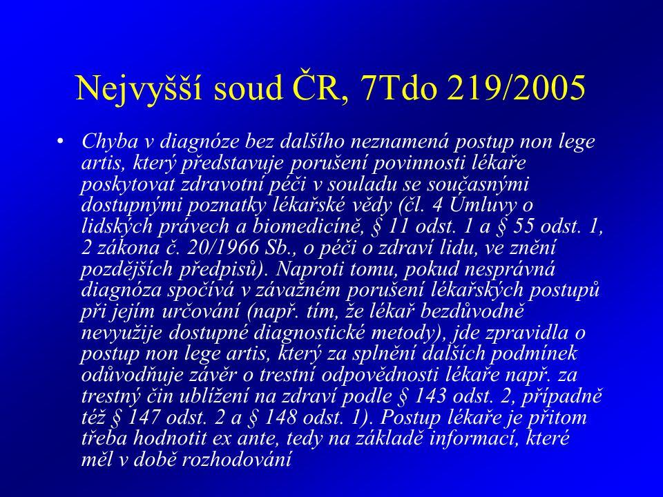 Nejvyšší soud ČR, 7Tdo 219/2005