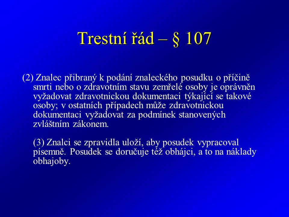 Trestní řád – § 107
